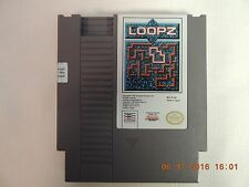 NINTENDO ENTERTAINMENT SYSTEM - LOOPZ - USED 1985 W/ DUST COVER