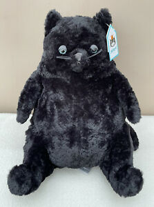 NEW Jellycat Amore Black Cat Chubby Cat Soft Baby Toy Comforter Plush BNWT