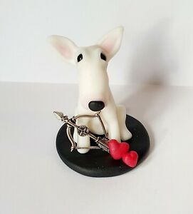 ODD BULLS English Bull Terrier Hand Made Valentines Day Figurine - 3 Designs