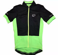 Pearl Izumi Elite Mens Sz S Blk Green Short Sleeve Full Zip Biking Jersey EUC