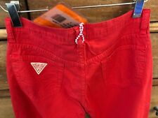 FIORUCCI SAFETY JEANS TOMATO RED SLIM STRAIGHT JEAN PANTS NWT SIZE 28