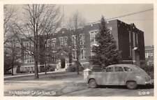 CEDARTOWN, POLK COUTY, GA ~ HIGH SCHOOL, CAR, REAL PHOTO PC ~ c. 1940's