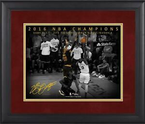 LeBron James Cavaliers Framed 11x14 Finals G7 Chasedown Block Moments Spotlight