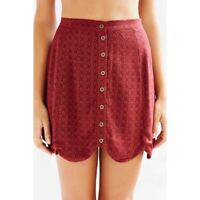 URBAN OUTFITTERS Red Scallop Hem Skirt EUC / Sz 0 / XS