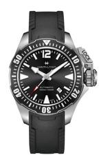 New Hamilton Khaki Navy Frogman Auto Balck Dial Rubber Band Men Watch H77605335