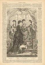 Ladies' House Dresses, Whippett Dog, Victorian Fashions, 1873 Antique Art Print