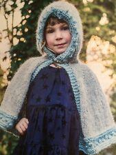 BK12 - KNITTING PATTERN- GIRLS HOODED CAPE / Little Red Riding Hood