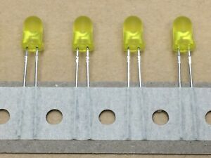 20 x Kingbright L-53LYD-TNR2.54 Yellow 5mm LED's TH Mount, Electronics Project