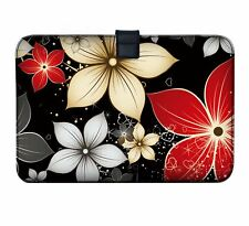 "Luxburg 11"" - 13"" Ultra Slim Sleeve Soft Case Cover for MacBook Air Retina Big Red and White Flowers 30 5 Cm (12 Zoll) Notebook"