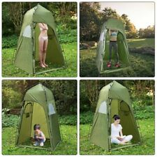 Camping Shower Tent Awning Canvas Folding Lightweight Portable Outdoor Toilet