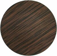 "American Atelier Faux Wood Round PP 13"" Charger Plate Wedding, Brown, SET OF 4"