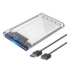 More details for clear usb 3.0 sata external hard drive case 2.5 inch enclosure caddy hdd ssd