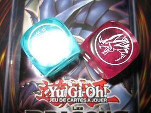 YU-GI-OH! LOT 2 dés COLLECTOR HERMOCRATE TIMEE DRAGONS DE LEGENDE NEUFS RARE