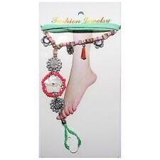 Lol Bijoux - Bracelet de Cheville et de Pied - Pampilles - Turquoise