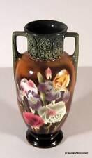 Art Nouveau Czech Majolica Art Pottery Vase Spritzdekor Airbrush Decoration