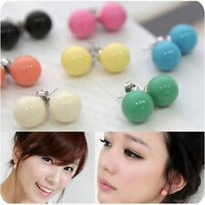 Wholesale 12Pairs 12mm Colour beads stud ball earrings for women Christmas gift