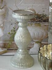 Kerzenleuchter Leuchter, Bauernsilber silber matt, Shabby, French Franske, 26 cm