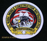 SEABEE Mobile Construction Battalion NMCB 5 PATCH US NAVY USS PIN Port Hueneme