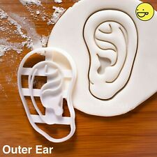 Anatomical Human Outer Ear cookie cutter | Halloween otolaryngology ears anatomy