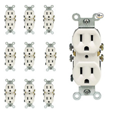 Outlet Receptacle 125 Volt 15 Amp Duplex Residential Dual Electrical Wall Plug
