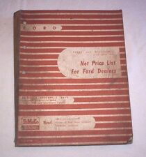 28-55  FORD  FACTORY  PARTS  PRICE  LIST  Oct 1, 55  --Check This Out--