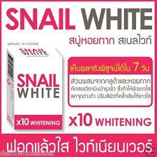 Snail White Gluta Glutathione x10 Whitening Beauty Face Fair Skin Acne Soap