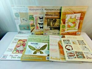 Stampers Sampler Lot 8 Magazine Lot Artist Paper Template Back Issues Take Ten