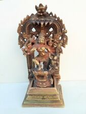 1850's Antique Rare Hand Carved Brass Hindu Goddess Ambey Durga Kali Mata Statue
