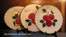 "Set of 3 BLUE RIDGE Apple Trio Colonial Dinner & Luncheon Plate 11"" Oval Platter"