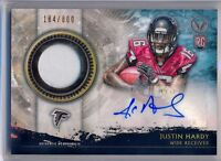 JUSTIN HARDY- 2015 Valor Rookie Patch AUTO /800 - Falcons RC