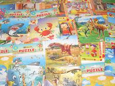 Lot x10 Jeux Enfants Petit Puzzle Différents 13 x 13 cm NEUF