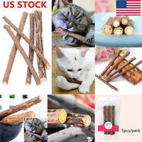 15PCS Cat Natural Matatabi Snack Chew Stick Catnip Toy Polygama  Molar Mint