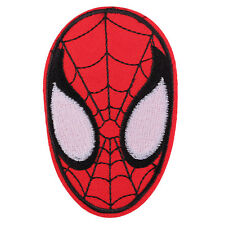 "Spider Man Face Fabric Embroidered Iron/Sew On Patch for kids Clothes 3.7""X2.3"""
