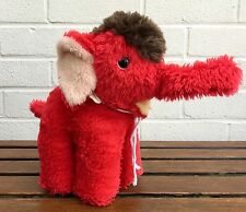 VINTAGE STEIFF -DIGGI the ELEPHANT- COLLECTOR RED PLUSH BEAR WILD ANIMAL 6431/18