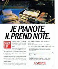 Publicité Advertising 087  1985  Canon  pc portable X 07