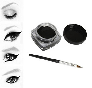 Eye liner eyeliner gel noir pinceau offert pinup rétro vintage look