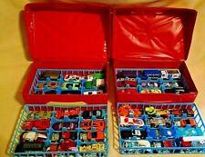 TARA TOYS CAR CASE SET 2 WITH 48 CARS HOT WHEELS MATCHBOX MAISTO DISNEY SUN TOY.