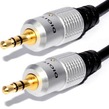 15m Jack Plug To Male Plug 3.5mm Audio HQ Cable For Car Mp3 Aux Headphone
