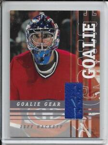 01-02 Between The Pipes Jeff Hackett Goalie Gear (Pads) # GG-02