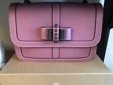NEW Christian Louboutin Sweet Charity Small Pink Calf CrossBody Shoulder Handbag