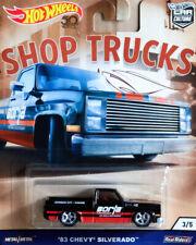 '83 Chevy Silverado Pickup Shop Trucks Car Culture 1:64 Hot Wheels FLC22 FPY86