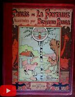 Fables of La Fontaine c.1906 Benjamin Rabier color illustrated French Tallandier