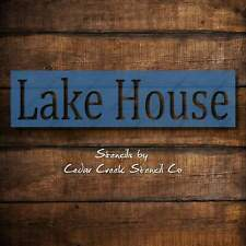Lake House Stencil, Reusable Word Stencil, DIY Paint Craft Stencil, DIY Lake cab