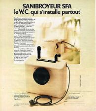 PUBLICITE ADVERTISING 084  1977   SFA  le sanibroyeur                     150814