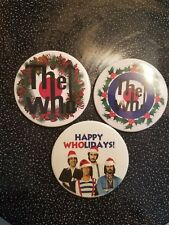THE WHO CHRISTMAS BADGES BUTTON PIN entwistle keith moon pete townshend daltrey
