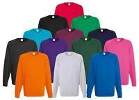 Fruit of the Loom Mens Lightweight Raglan Sweat Sweater Jumper | 14 COLOURS