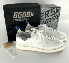 Golden Goose White Landed Starter Sneakers In White Leather Size 40 - Clean!