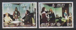 Jersey - 1980, Europa, Verbindungen Mit Britain Set - MNH - Sg 226/9