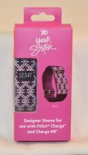 NEW XO YOUR SISTER DESIGNER SLEEVE FOR FITBIT CHARGE & CHARGE HR PLUM FREE SHIP