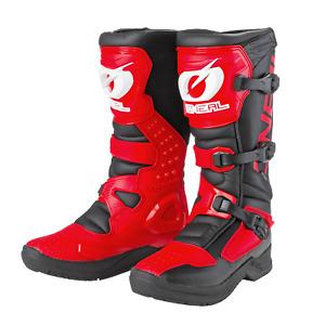 2021 O'Neal Motocross Boots RSX Black/Red MX Off-Road Enduro Quad ATV
